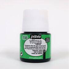 Pebeo 45 Ml Vitrea 160 Glossy Glass Paint Bottle Oriental Green