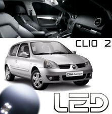 CLIO 2  Kit 11 Ampoules LED Blanc Veilleuses + plaque + Habitacle intérieur