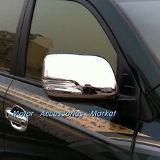 Chrome Rearview Mirror Cover Trim For Toyota Land Cruiser FJ200 LC200 2013-2015