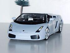 NEW - Lamborghini Gallardo Spyder - 1:18 Diecast Model Car - Maisto - Light Blue