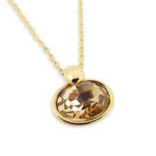 Gelbgold beschichtete Modeschmuck-Halsketten & -Anhänger mit Kristall Legierung