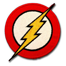 The Flash Patch Iron on Sew Thunder Avenger Super hero Kids Comic Emblem Cartoon