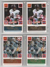 1986 McDONALD'S FOOTBALL COMPLETE MASTER SET - EVERY TEAM/EVERY COLOR TAB- NM/MT