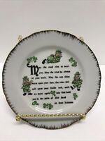 Vintage Irish Blessing Decorative Porcelain Plate