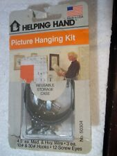 Bnip Helping Hand Usa Picture Hanging Kit 50304 10# & 30# Hooks Med & Heavy Wire