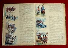 NAPOLEONISCHE KRIEGE - Manuskript mit 28 AQUARELLEN von HUGO de FICHTNER