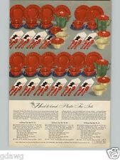 1944 PAPER AD Tea Set Plastic Semi-Porcelain Pot Cup  Saucer Cake Plates Pitcher