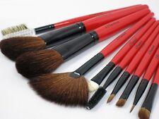Natural Goat & Pony Hair 10pcs Makeup Cosmetic Brushes Set Red