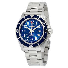 Breitling Superocean II Gun Blue Dial Stainless Steel Automatic Mens Watch