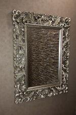 Antik-Silber Spiegel Barock Wandspiegel 131x102 cm Flurspiegel  Vintage Rokoko