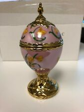 Franklin Mint House of Faberge Musical Egg Narcissus Tchaikovsky's romance - NEW