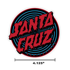"4"" Santa Cruz Depth Dot Skateboard Sticker Decal New Free Shipping"