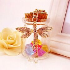 Bead Dragonfly Keyring Crystal Pendant Purse Bag Decor Key Ring Women Gifts