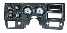 1973-87 Chevy C10 Truck Silver Alloy & Blue Dakota Digital VHX Analog Gauge Kit