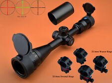 Eagle 3-12x40 AO R/G Turrets W/Lock/Reset Mil Dot Rifle Scope W/2 Kinds of Rings