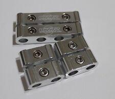 6pc Spark Plug Wire Billet Separator V8 V6 Engine Silver