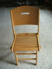 "Vintage ""Clements""  Canada Quality Solid Wood Folding Chair 1 0f 4"