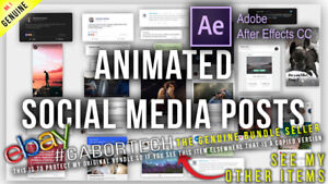 After Effects Project Files - Animated Social Media Posts