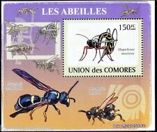 Giant ichneumon Wasp, Insects, Comoros 2009 MNH Sheet - C17