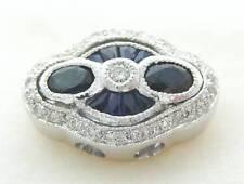 KLEIN DIAMOND SAPPHIRE SLIDE BRACELET SLIDER CHARM KLJCI 14K