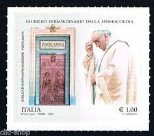 ITALIA 1 FRANCOBOLLO GIUBILEO STRAORDINARIO MISERICORDIA PORTA SAN. 2015 nuovo**