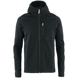 Fjallraven Men's Fleece - Fjallraven Keb Fleece Zip Hoodie - Black - F81878