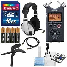 Tascam DR-40 4-Track Handheld Digital Audio Recorder with Accessory Bundle