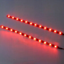 2Pcs Red 30cm 5050 SMD LED Strip Light Flexible Waterproof 12V DIY Car nice.AU