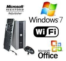 Dell Dual Core 3.4Ghz USFF Desktop PC System 4GB RAM 2TB WiFi Windows 7 +Office!