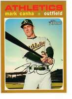 Mark Canha 2020 Topps Heritage 5x7 Gold #60 /10 Athletics
