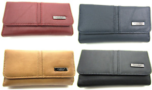 Ladies RFID Protected Genuine Large Leather Purse Credit Card Holder Coin Pouch