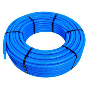 Tube PER pré-gainé Bleu Ø16 x 1,5 - 10 mètres - Blansol Barbi