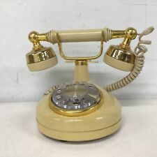 Vintage  Yellow & Gold Rotary Phone  #327