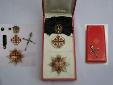 More details for rare wwi cased complete set - order of the holy sepulchre jewels vatican.