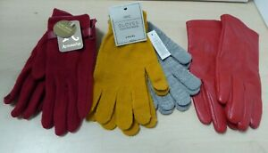 Bundle of 4 Pairs of Ladies Gloves Accessorize Next Touchscreen Red Y19 C1