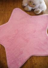 Children's Girls Bedroom Nursery Rug Pink Star Shaped Padded Soft Touch 70cm