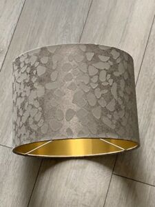 new HQ luxury marble stones copper with gold lining lamp shade pendant shade