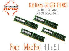  Mémoire 32 GB (4x 8GB) DDR3 ECC 1333MHz Mac Pro 2009 2010 2012  4.1/5.1