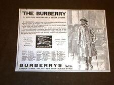 Pubblicità primi del '900 Impermeabile The Burberrys e Crociere Stella d'Italia