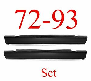 72 93 Dodge Slip-On Rocker Panel Set, 2 Door Ram Truck, NIB, 1580-103, 1580-104