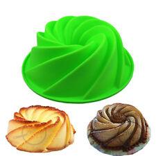 Silicone Butter Cake Mold Large Bundt Swirl Shape Cake Pan Silicone Baking DIY