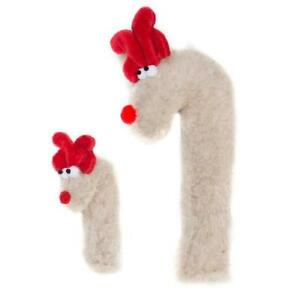 NEW Crinkle Cane Deer Plush Dog Toy in Oatmeal Beige (Limited Edition) West Paw