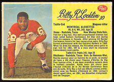 1963 POST CFL FOOTBALL #10 BILLY RAY LOCKLIN EX MONTREAL ALOUETTES NEW MEXICO