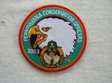 """Pennsylvania Conservation Officers 2003 4"""" Ollie Otter Patch"""