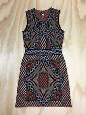 Kerisma Women's M Sleeveless Bodycon Stretch Knit Wool Blend V-Neck Dress