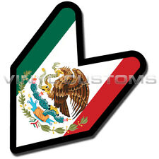 """Mexico Wakaba Leaf Flag Mexican Decal Sticker JDM - 5"""" in."""