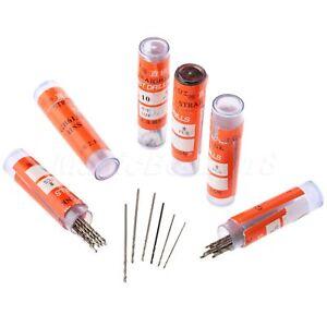 60pc 0.5mm-1.0mm Straight Shank Micro HSS Twist Drill Bits For PCB Plastic Metal