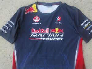 HOLDEN red bull - caltex racing team fully sponsored supercars shirt L