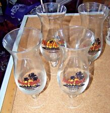 4 Denver Hard Rock Hurricane stem glasses Hrc cafe glass