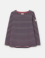 Joules  211602 Bci Cotton Long Sleeve Jersey Top - Navy Pink Stripe